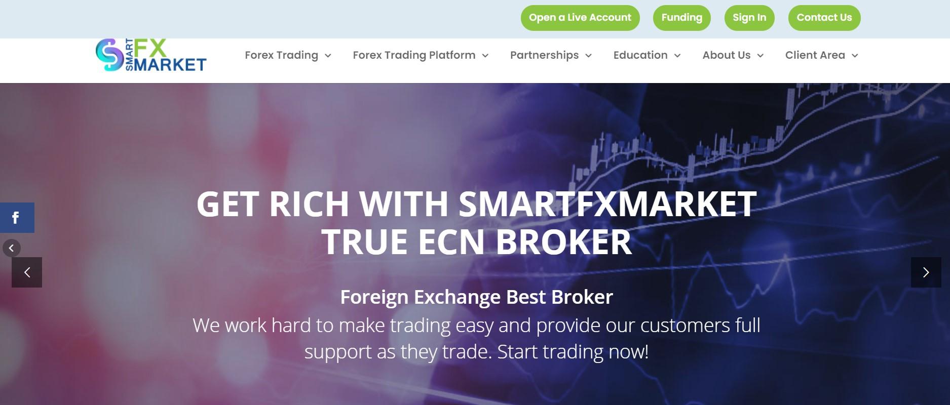 SmartFX Market website