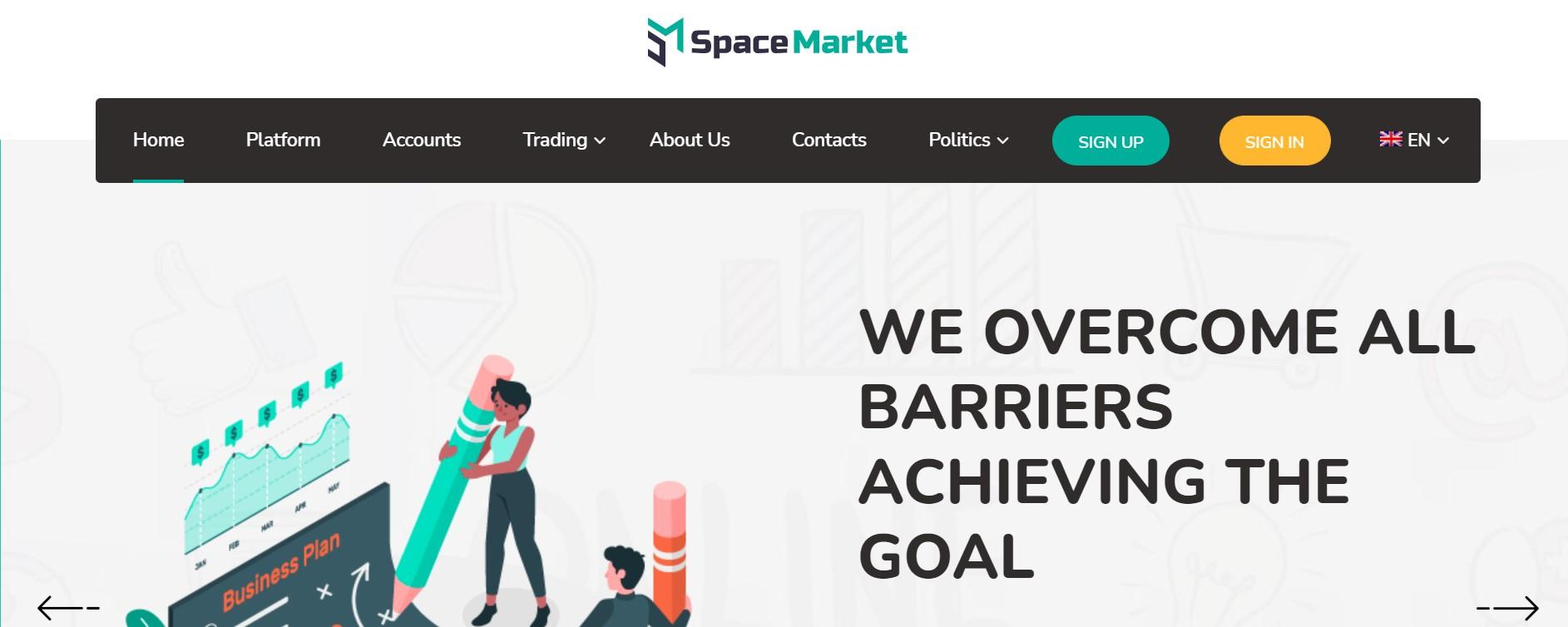 Space Market website