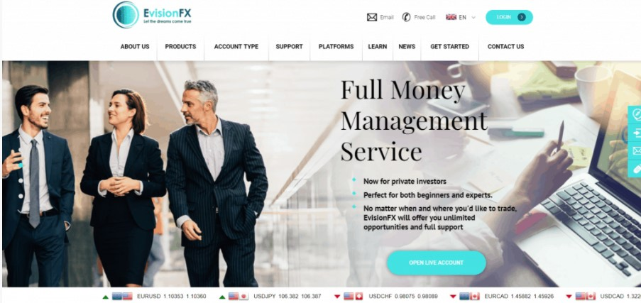 EVisionFX website