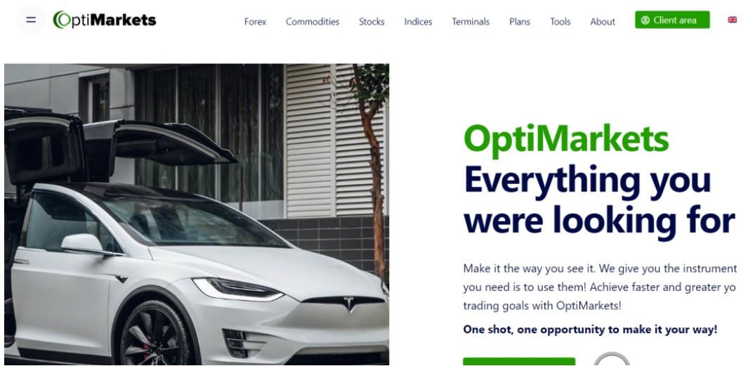 OptiMarkets website