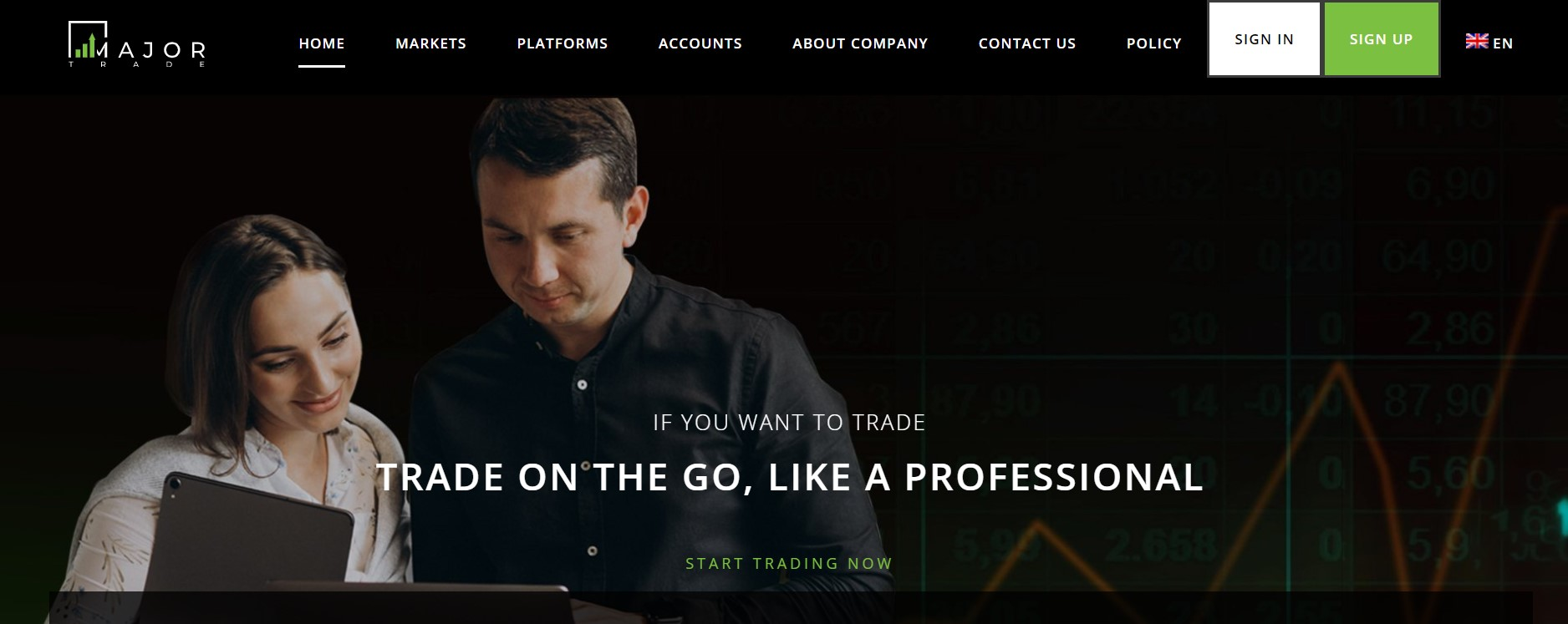 MajorTrade website