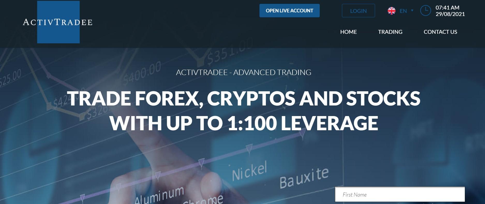 ActivTradee website