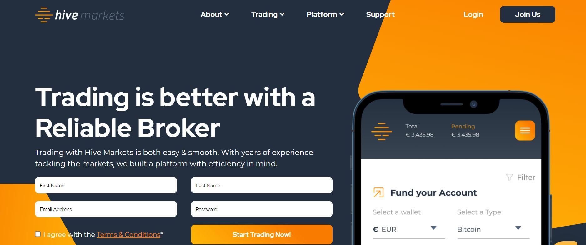Hive Markets website