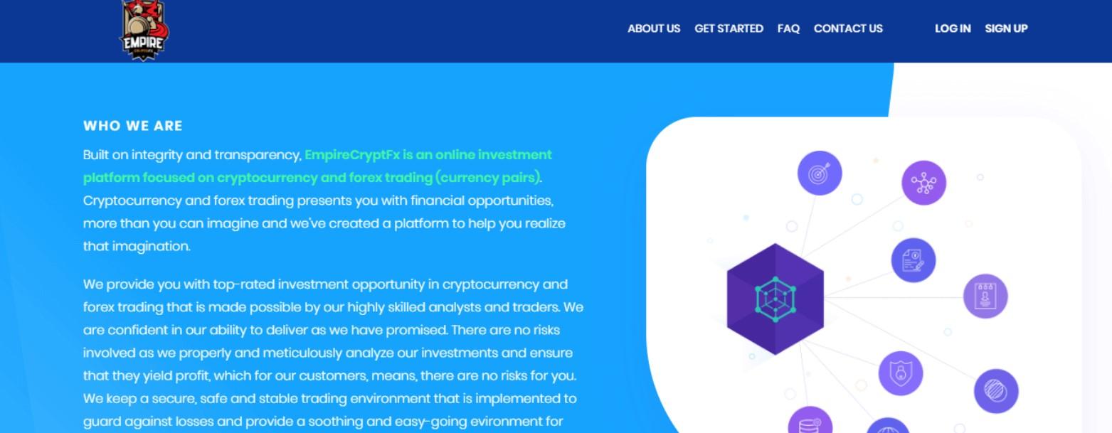 Empire Crypto Fx website