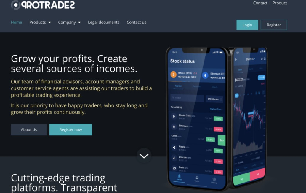 Pro Trades website