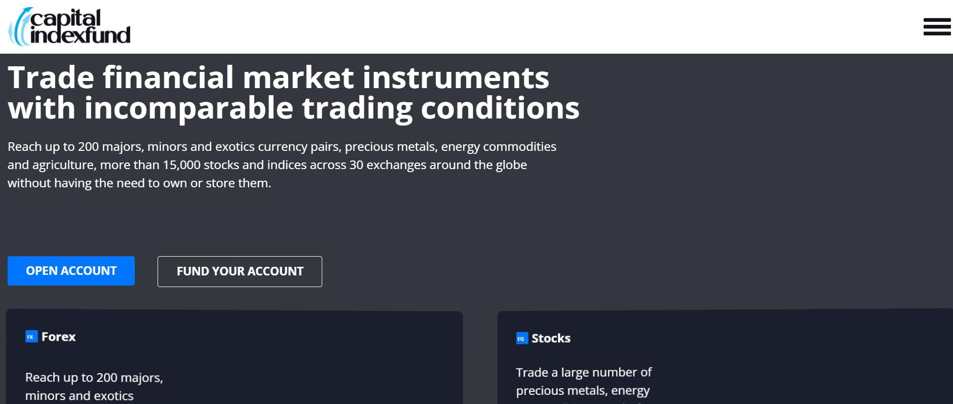 Capital Index Fund website