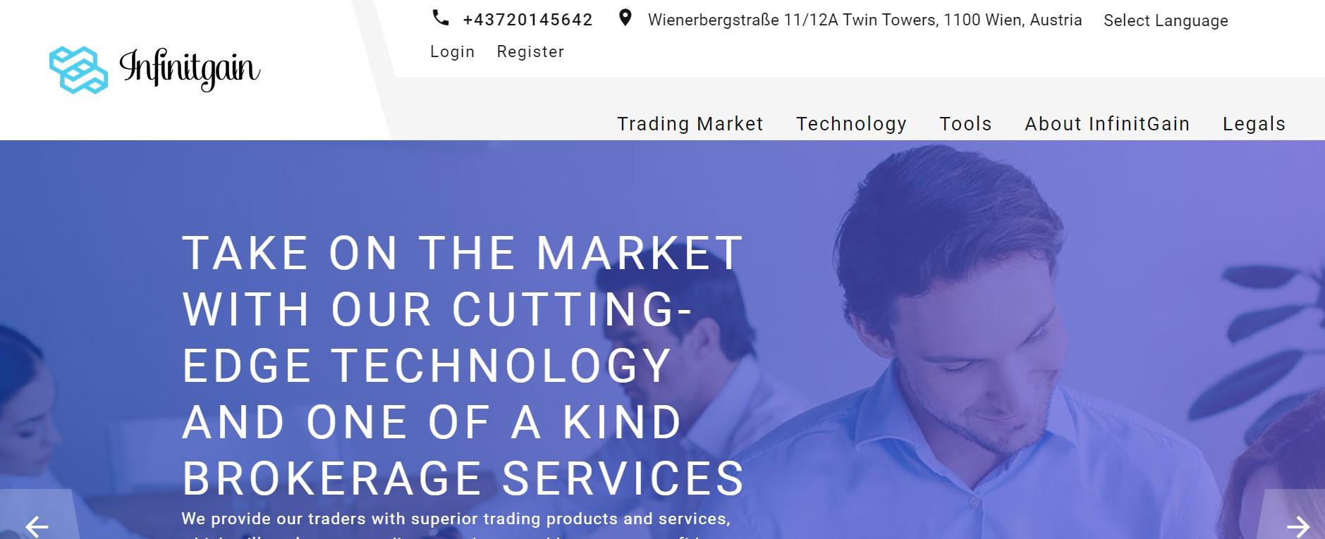Infinitgain website
