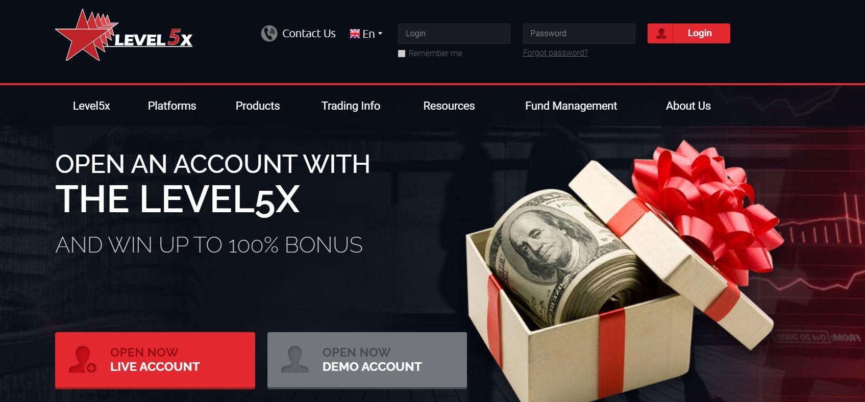 Level5x website