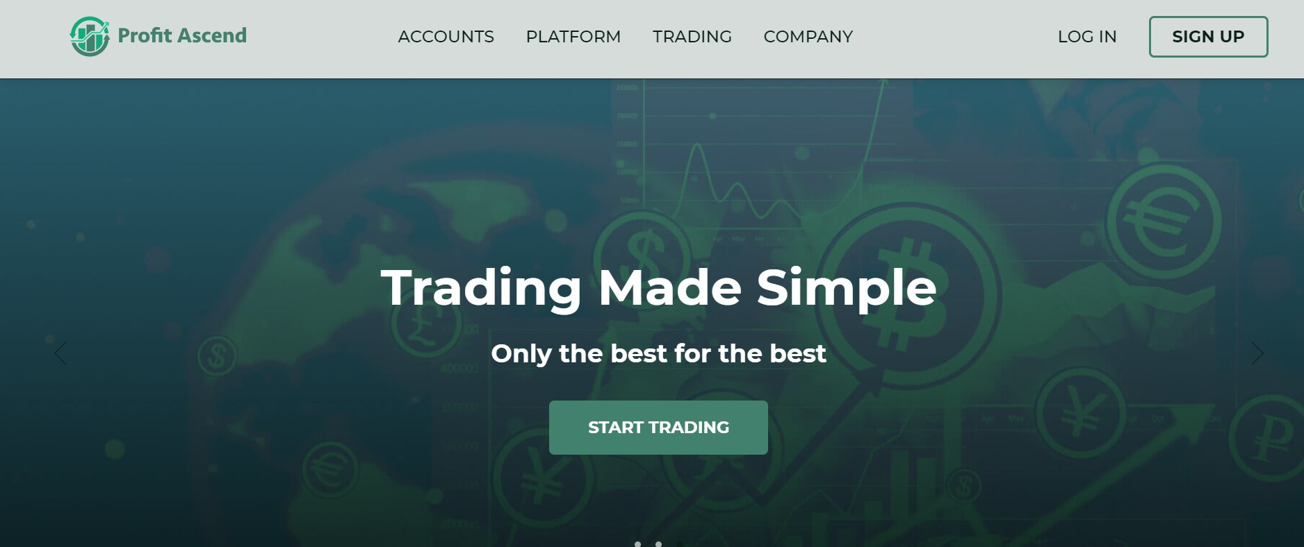 Profit Ascend website