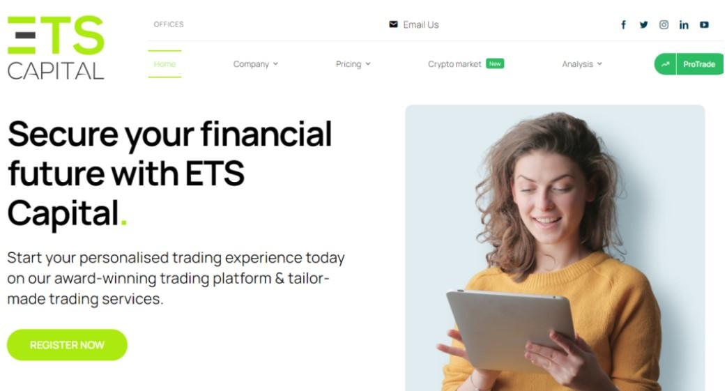 ETS Capital website